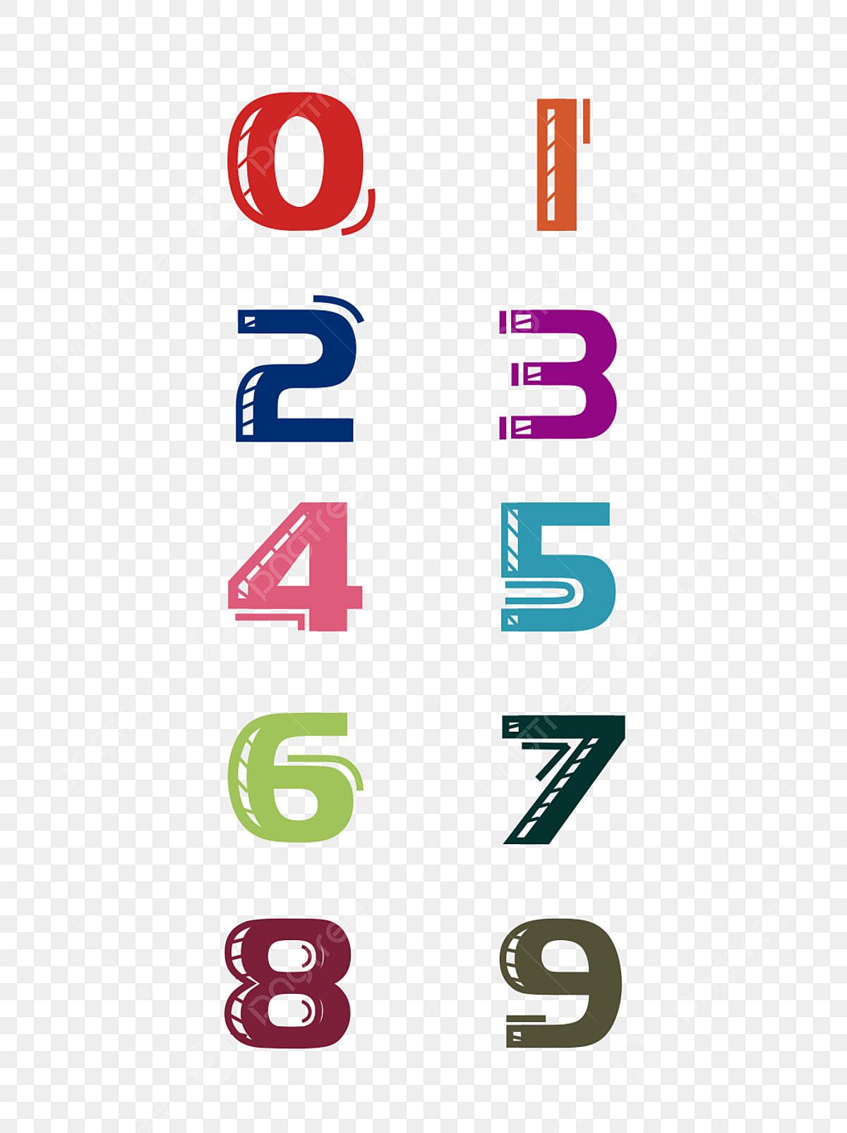 كرتون رسم الأرقام العربية كرتون اللون الرياضيات Png صورة للتحميل مجانا