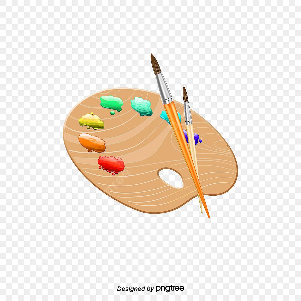 Le Dessin De La Palette Palette Pinceau Peinture Fichier