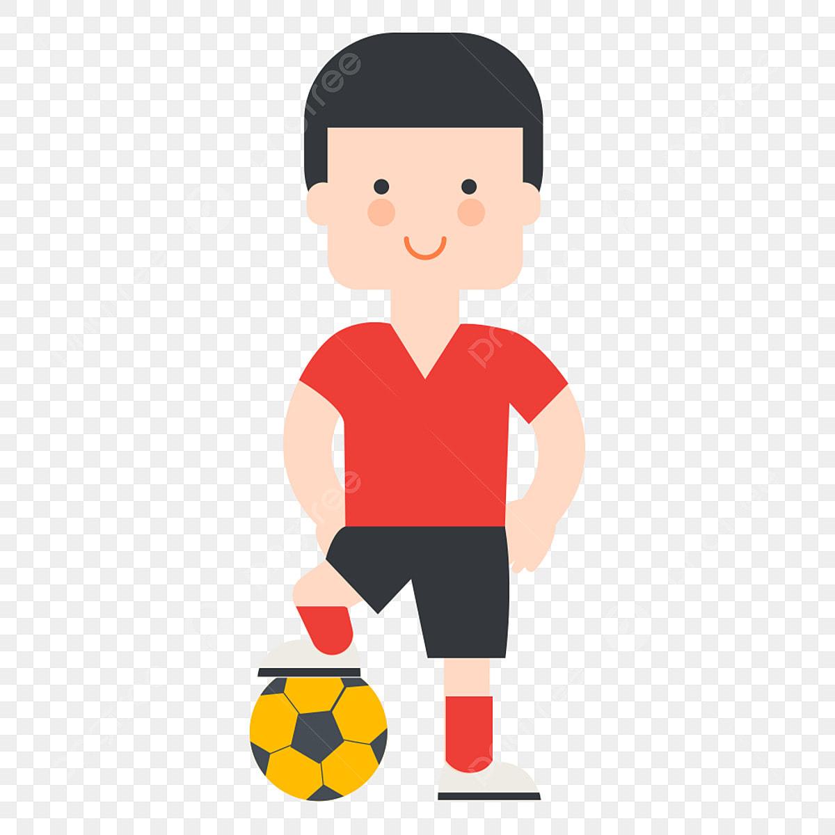 Cartoon Play Soccer Boy, Soccer Clipart, Boy Clipart