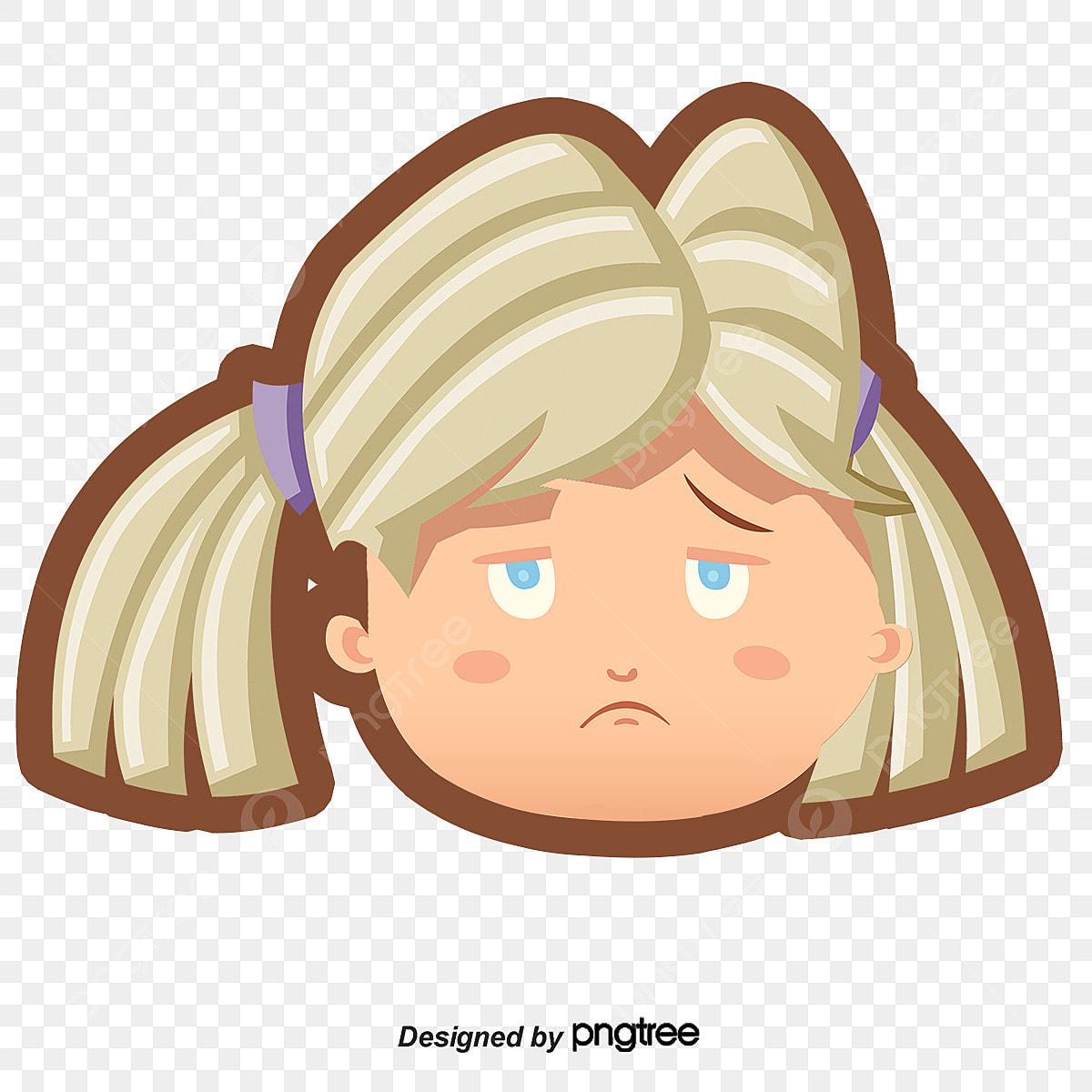 Tête De Dessin Fille Triste Dessin De Peints à La Main