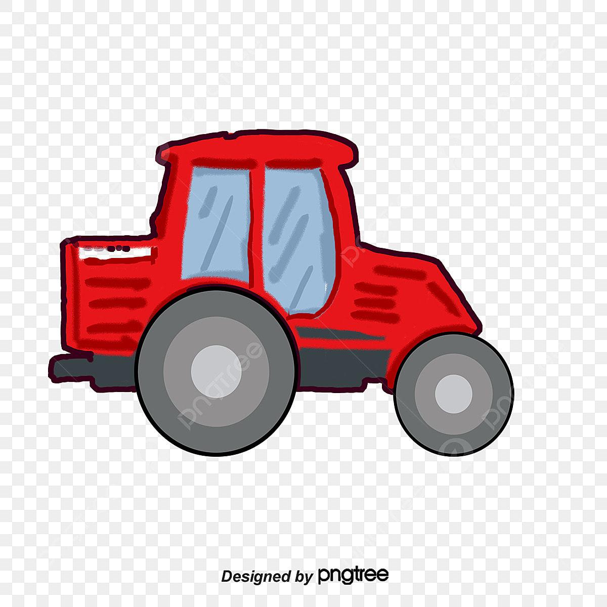 Trator Dos Desenhos Animados Drag A Agricultura Cartoon Png E