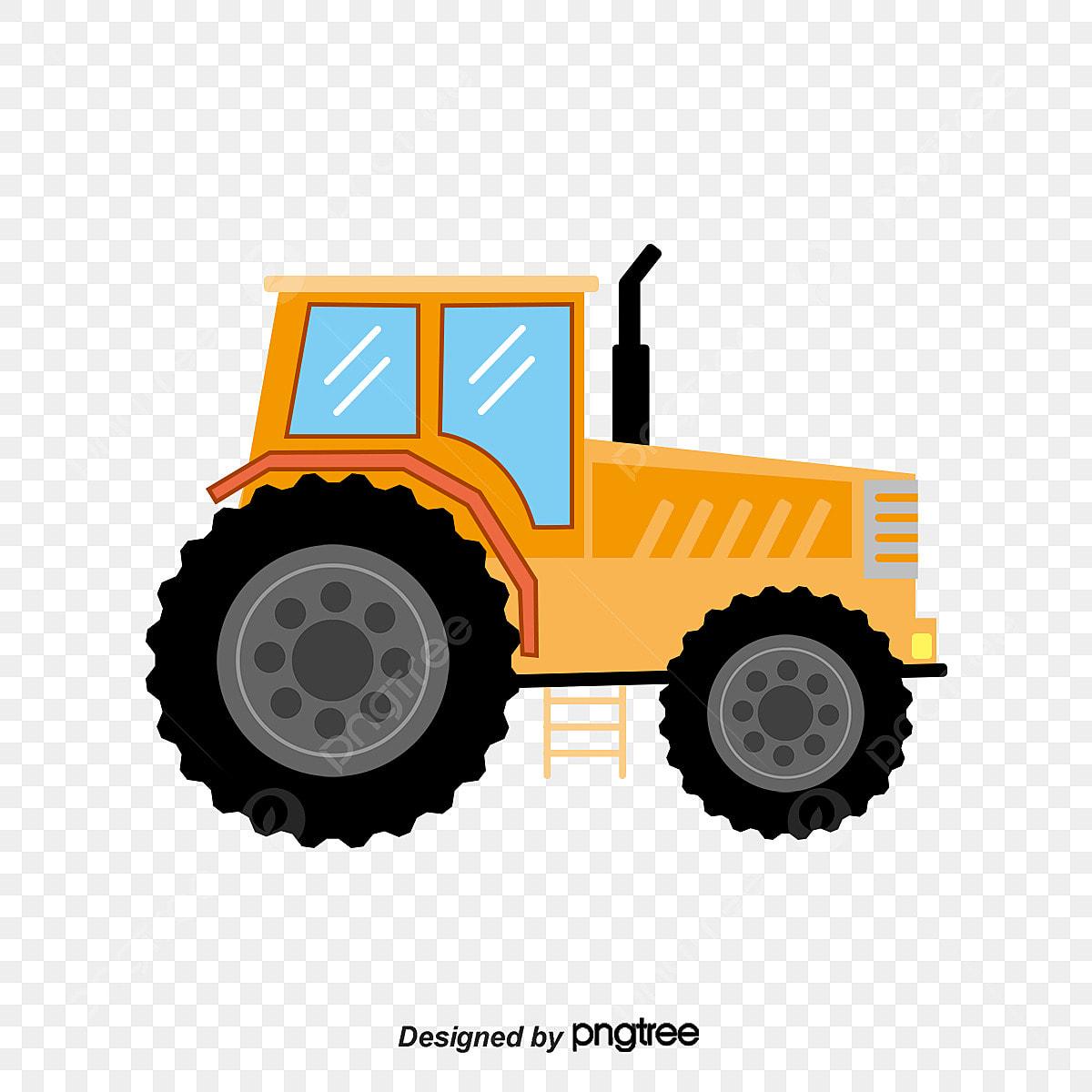 Trator Dos Desenhos Animados Desenho Pintado A Mao Tractor