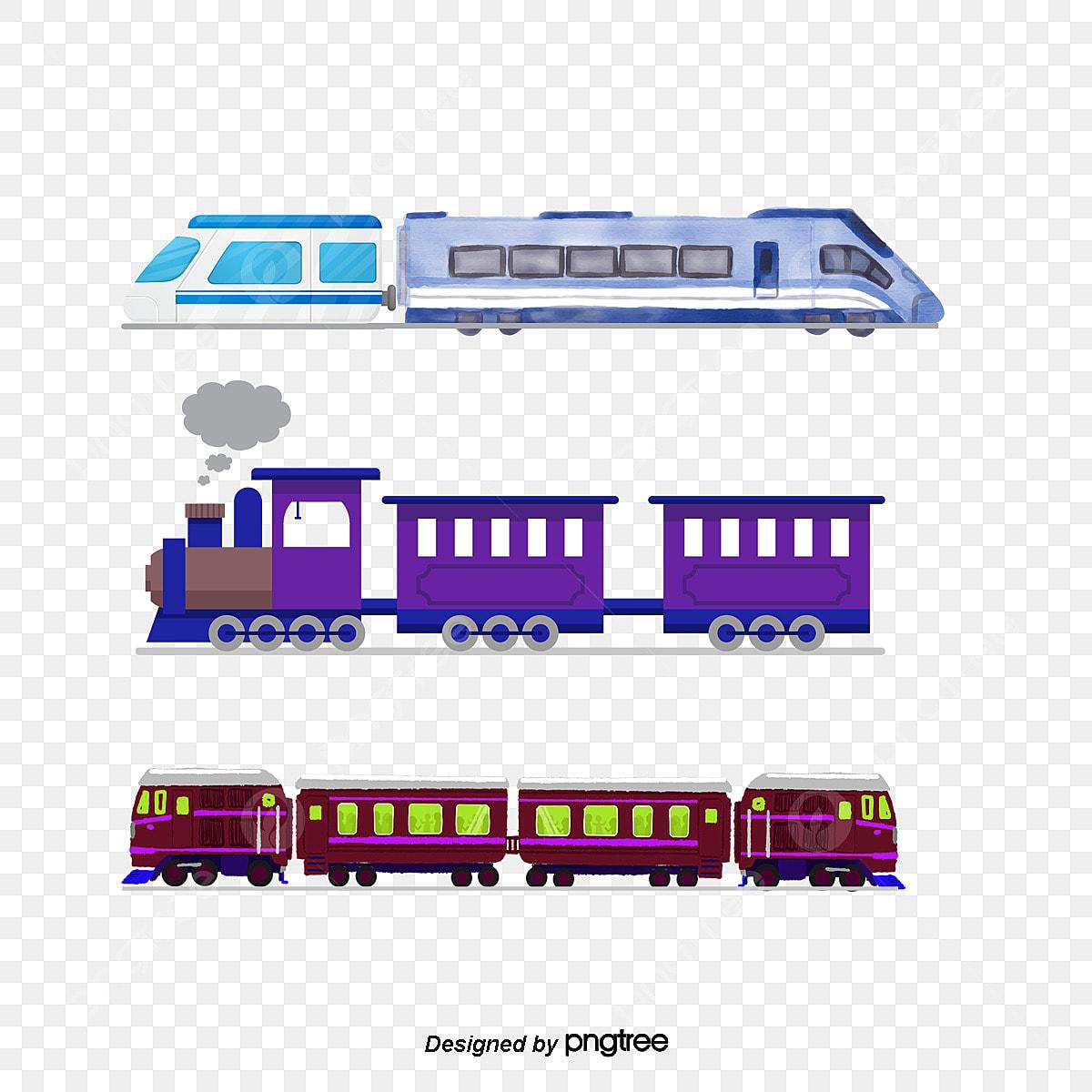 Cartoon Train Color Vector Cartoon Vector Train Vector