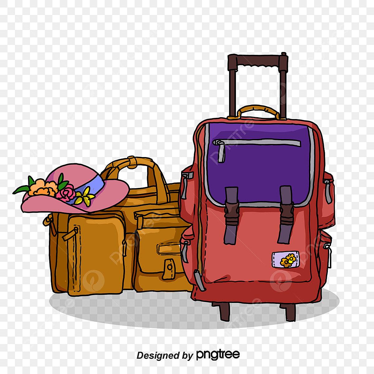 Desenhos Animados De Bagagem De Viagem A Viagem A Bagagem Mala