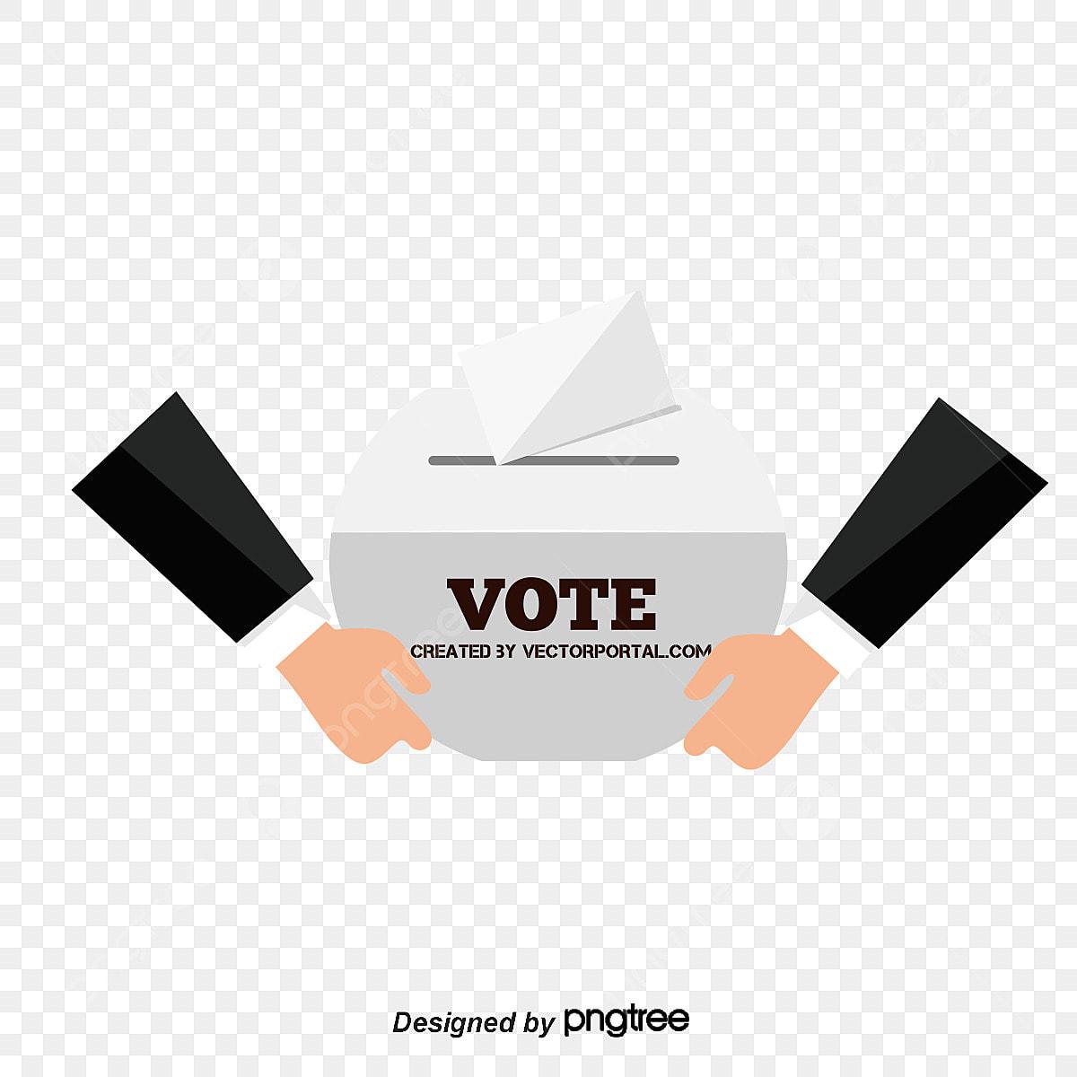 O Voto Dos Desenhos Animados Desenho Pintado A Mao A Votacao