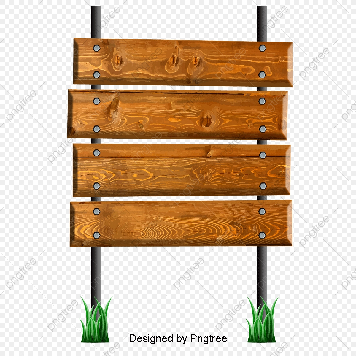 Cartoon Wooden Works Signal Wood Signs Wood Stakes Png