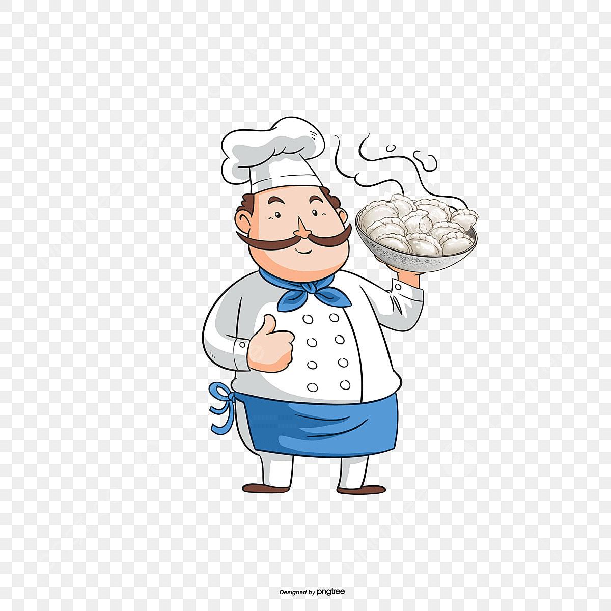 فواصل شيف لتزيين المواضيع Pngtree-chef-holding-a-bowl-png-image_2526795