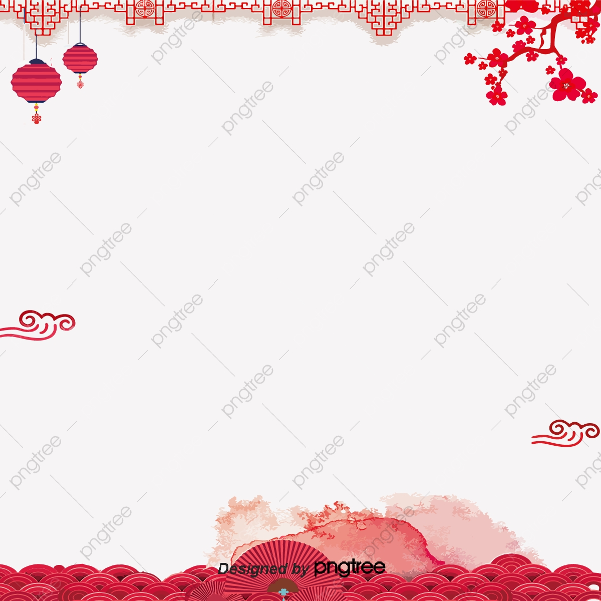 Chinese New Year Festive Red Background Chinese Clipart