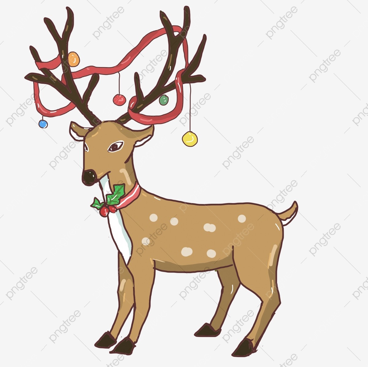 - Christmas Reindeer, Christmas, Reindeer, Cartoon PNG Transparent