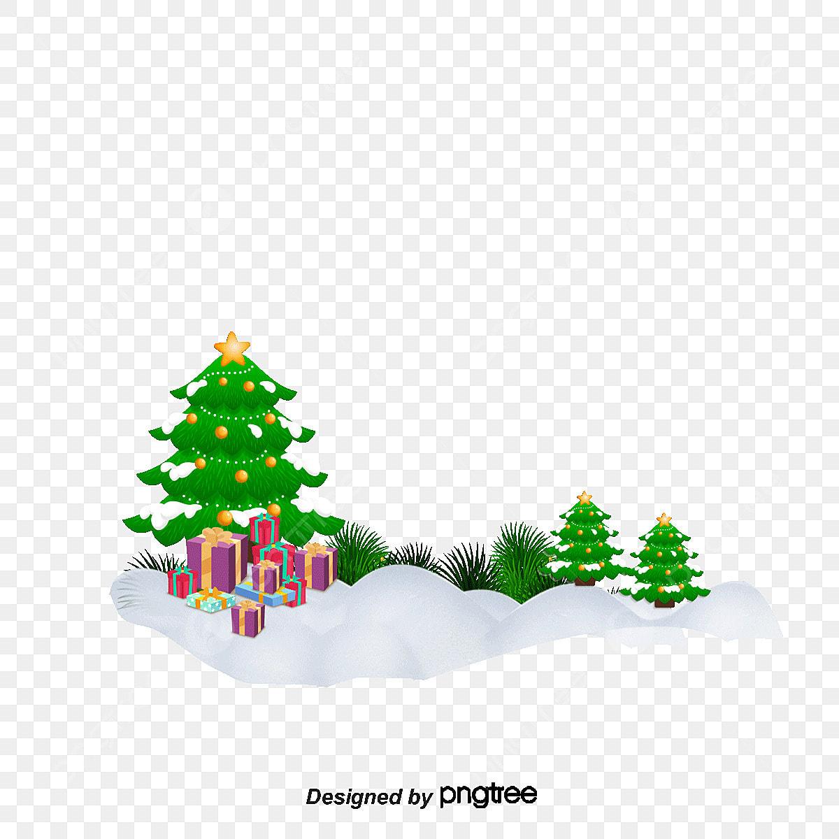 Gambar Pohon Natal Kartun Hitam Putih
