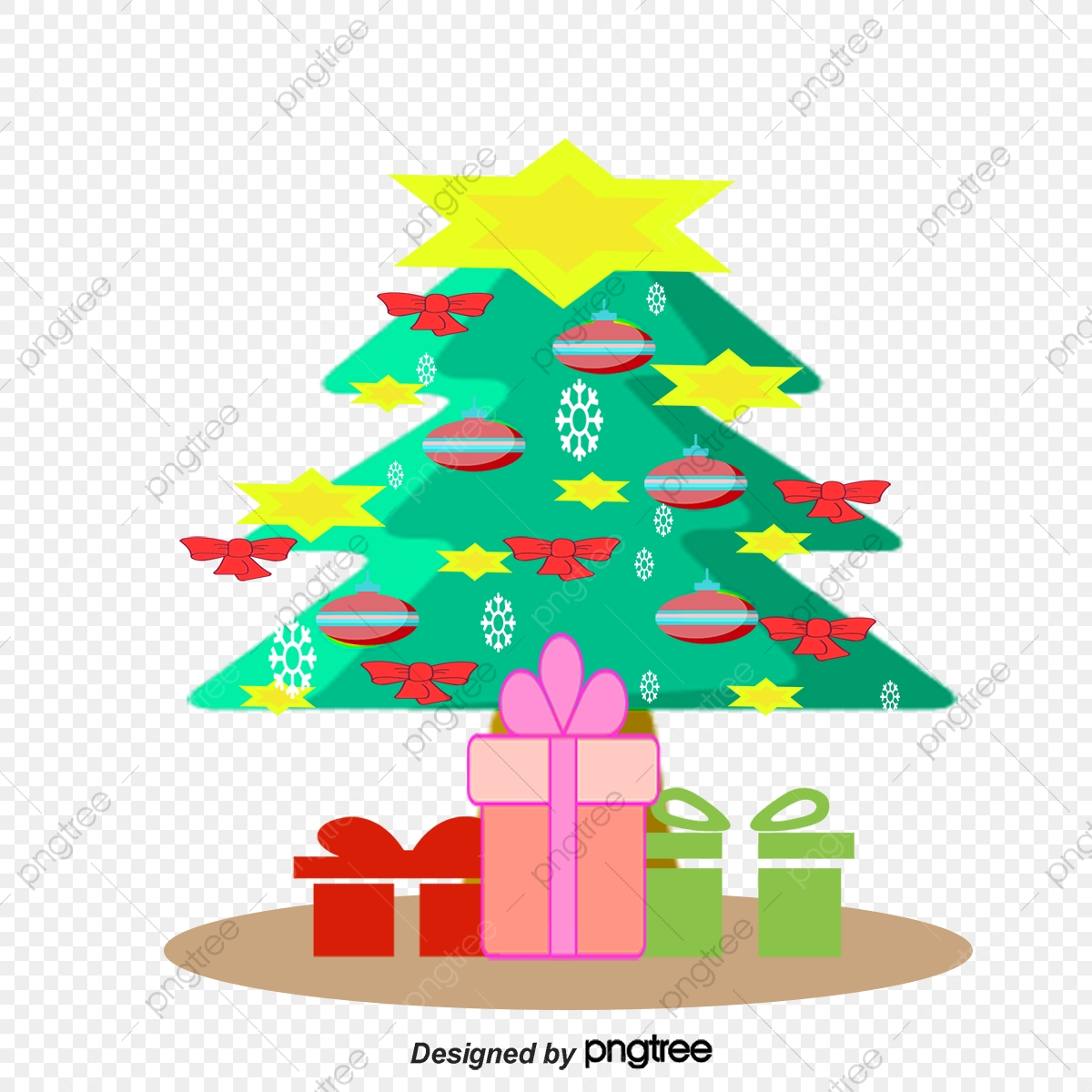 Christmas Tree Clipart Png.Christmas Tree Covered With Gifts Christmas Vector Tree
