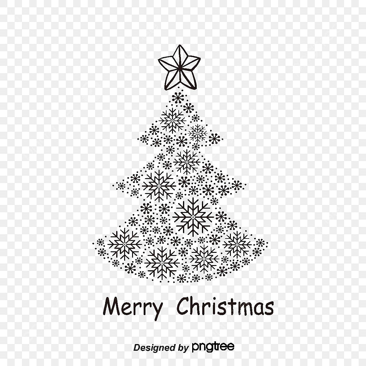 Christmas Tree Black Vector Christmas Vector Tree Vector Png And