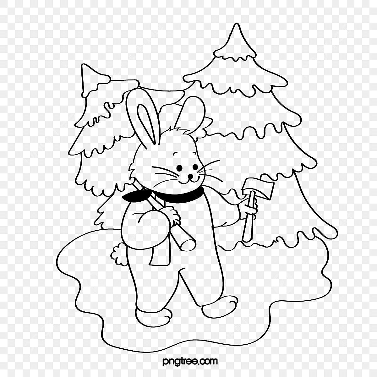 Coelho Para Colorir Desenhos Natal No Dia De Natal Para Colorir