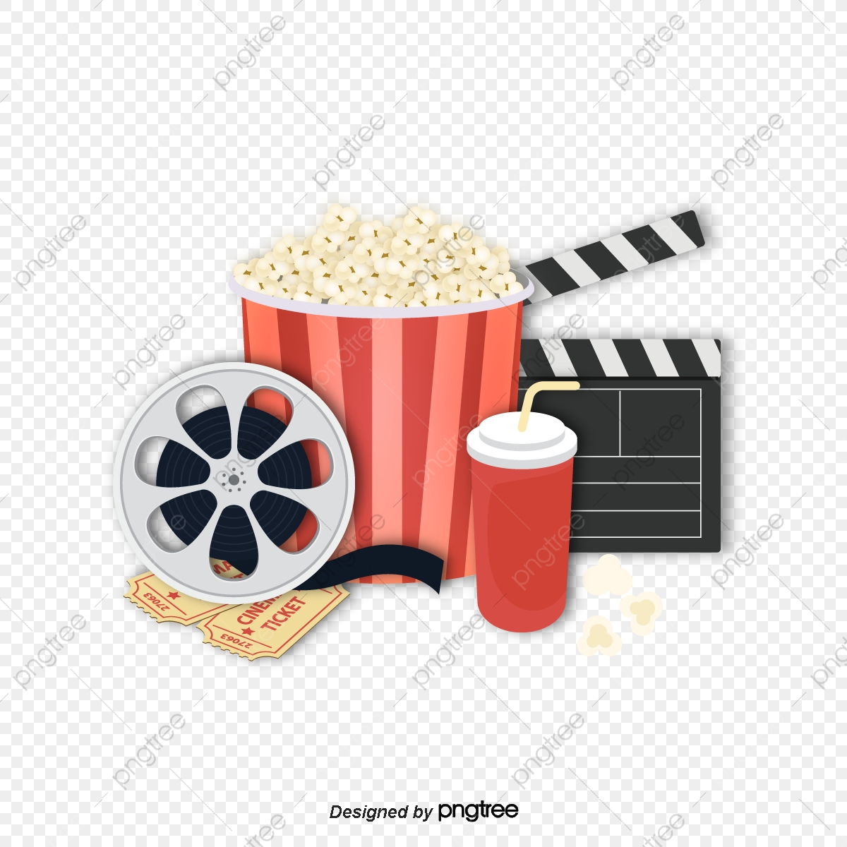 Cinema Popcorn Vector Png Vector Popcorn Gourmet Popcorn Cinema Popcorn Png And Vector With Transparent Background For Free Download