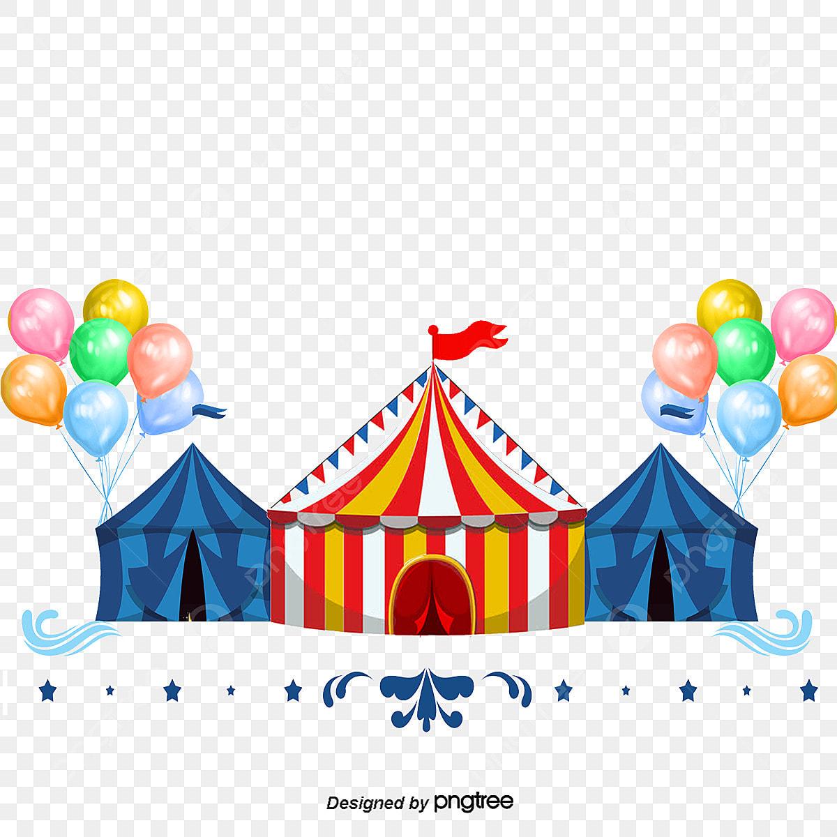 A Tenda De Circo Balao Dos Desenhos Animados De Material