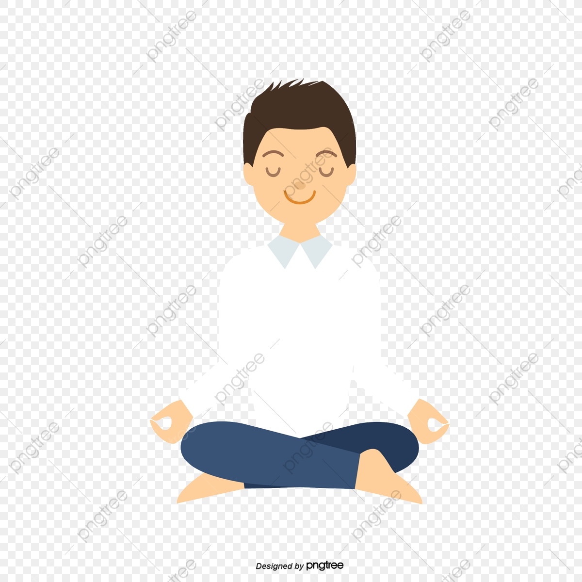 4bc79164d Descanso De Olhos Fechados Vector Png A Meditação A Meditação PNG e ...