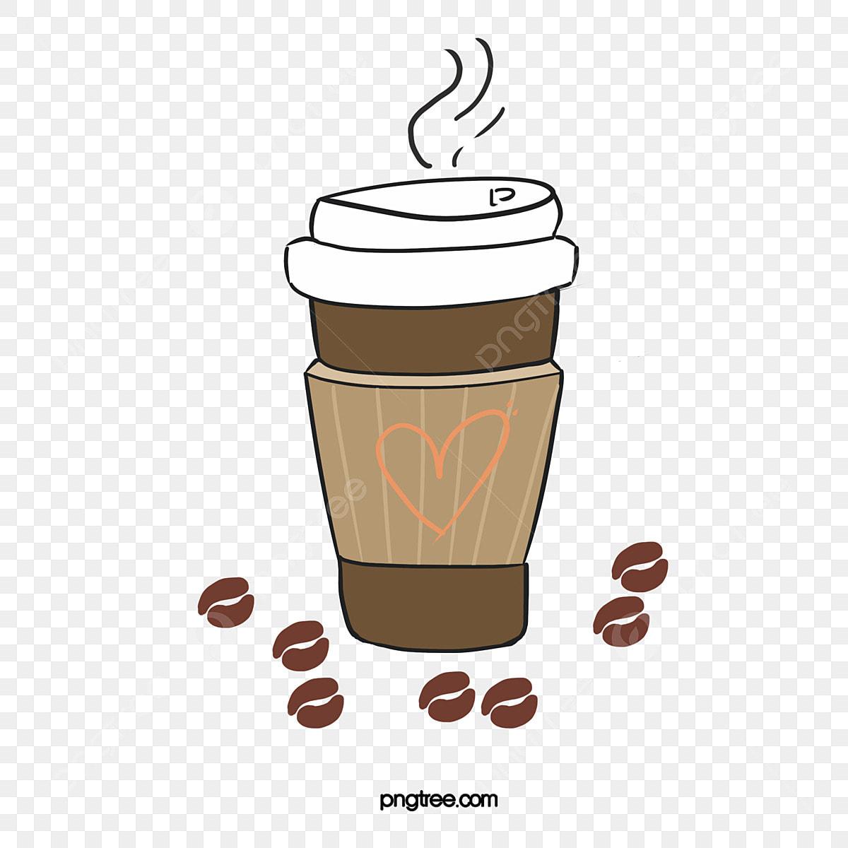قهوة بخار الماء كوب كرتون Png وملف Psd للتحميل مجانا