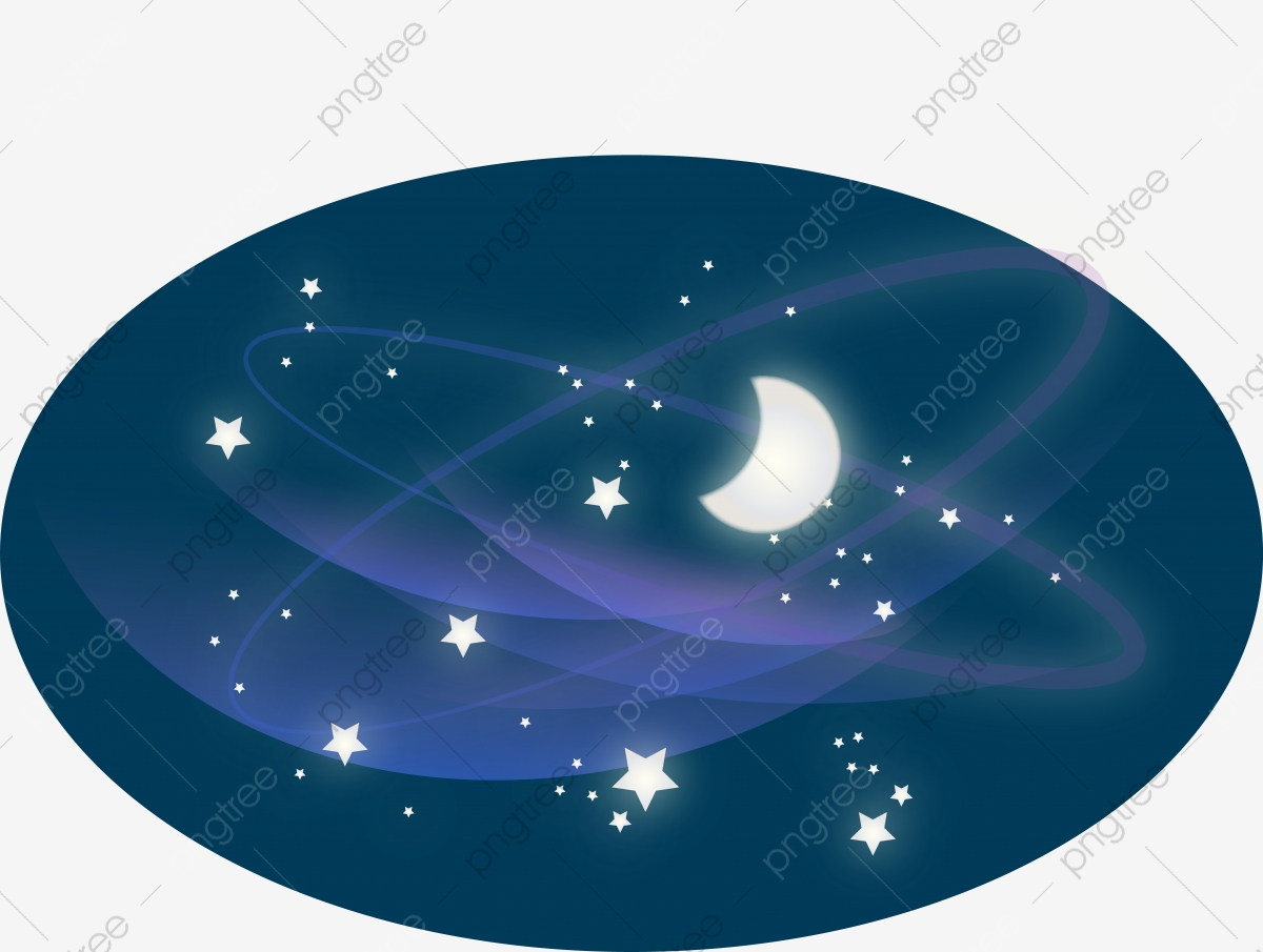 Galaxy blue. Colored clipart milky way