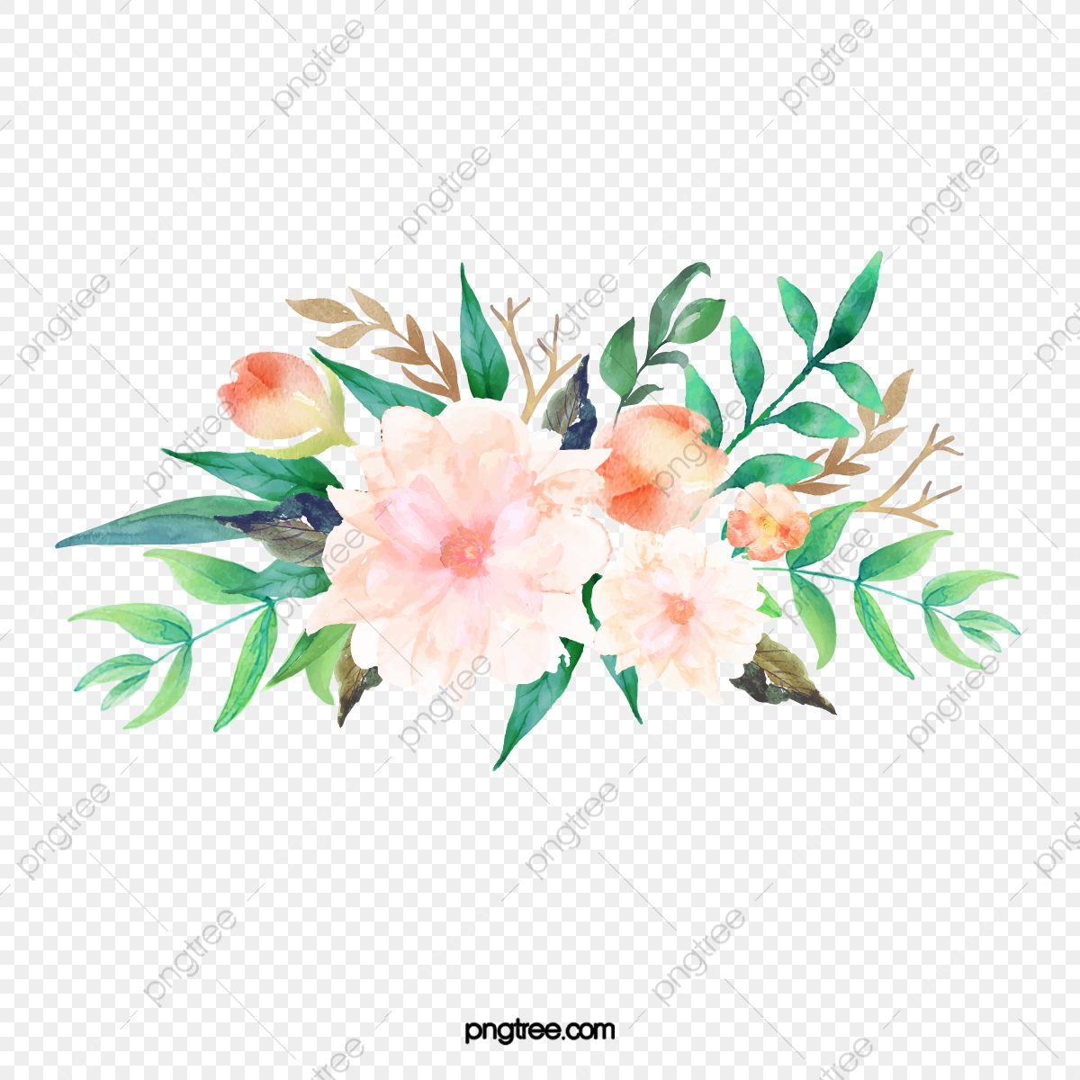 Flower PNG Vector And PSD Files