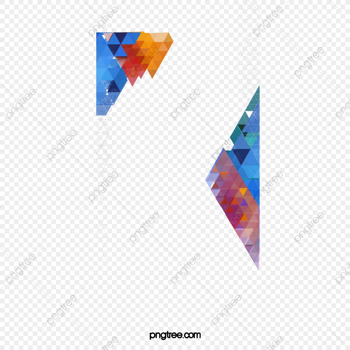 Colorful Polygonal Geometric Patterns, Colorful Vector, Polygonal