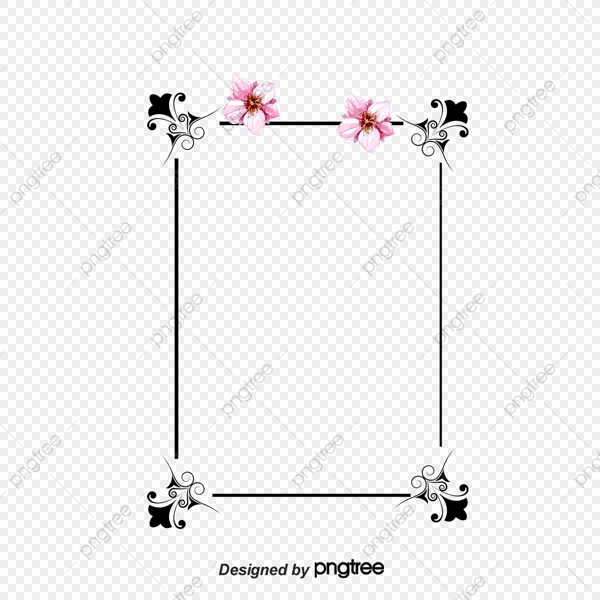 Cute Border Vector Japanese Border Vector Border Material