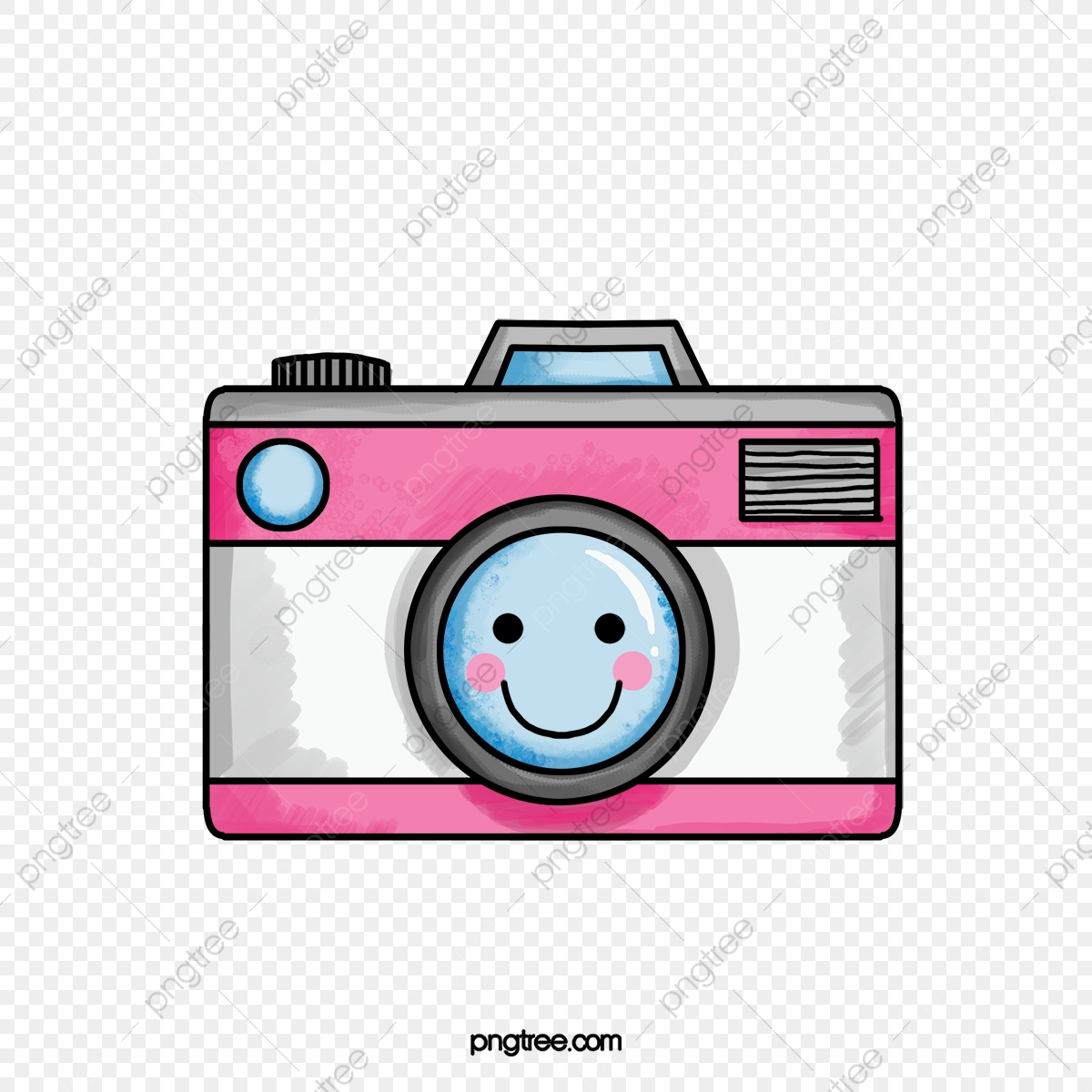 Camera cute. Cartoon clipart