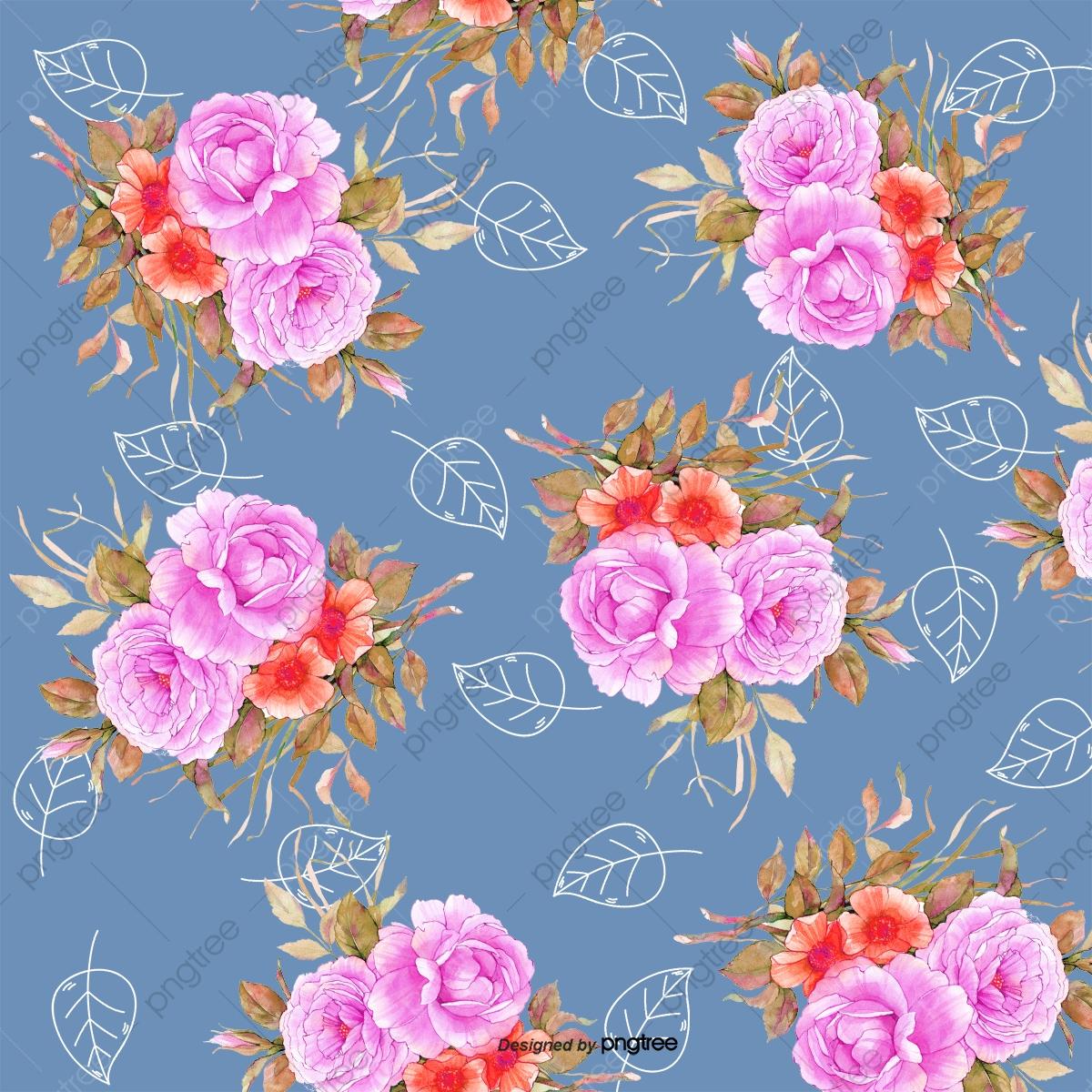 Dark Background Floral Pattern Dark Background Floral Pattern