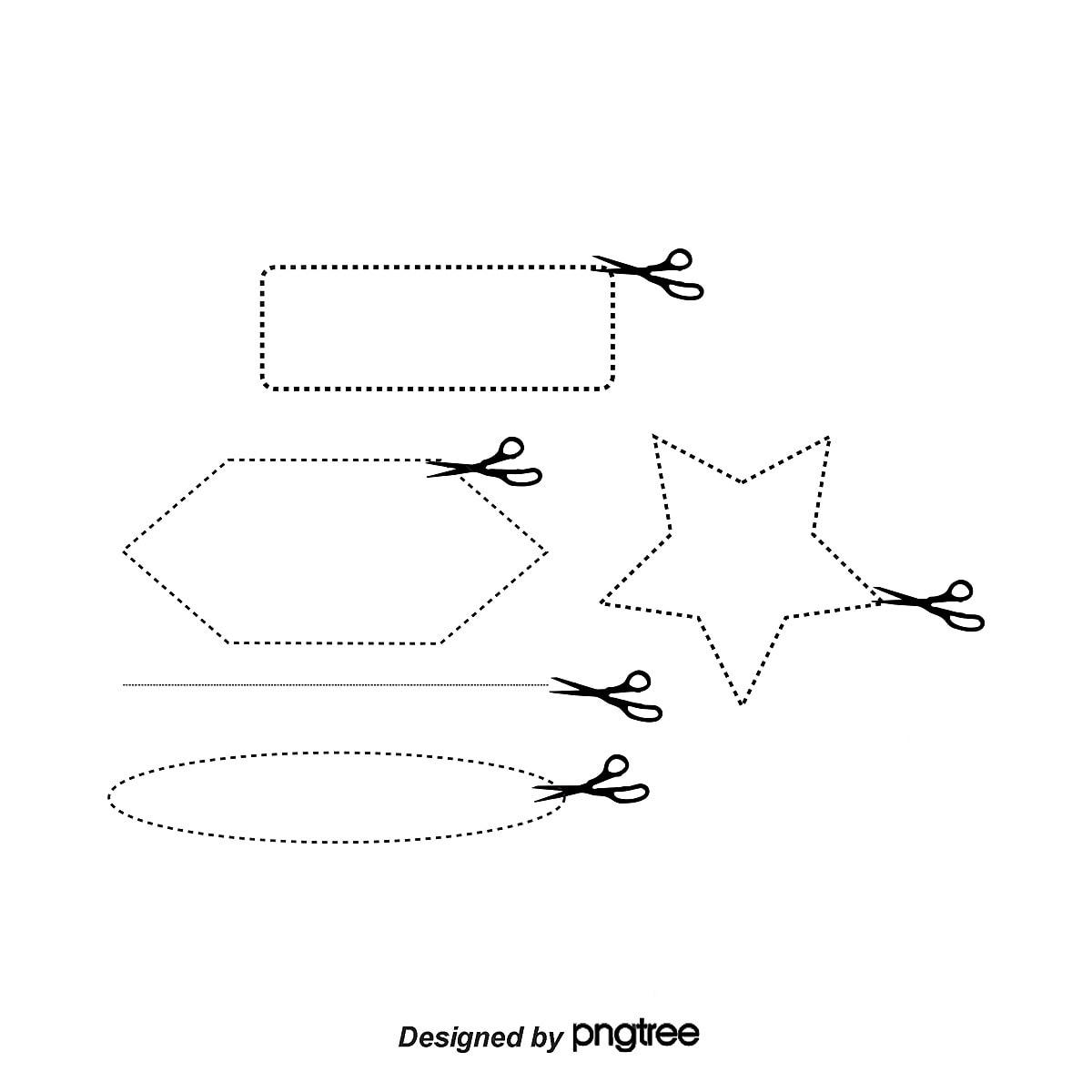 les lignes en pointill u00e9s de d u00e9coupe de bordure coupe la