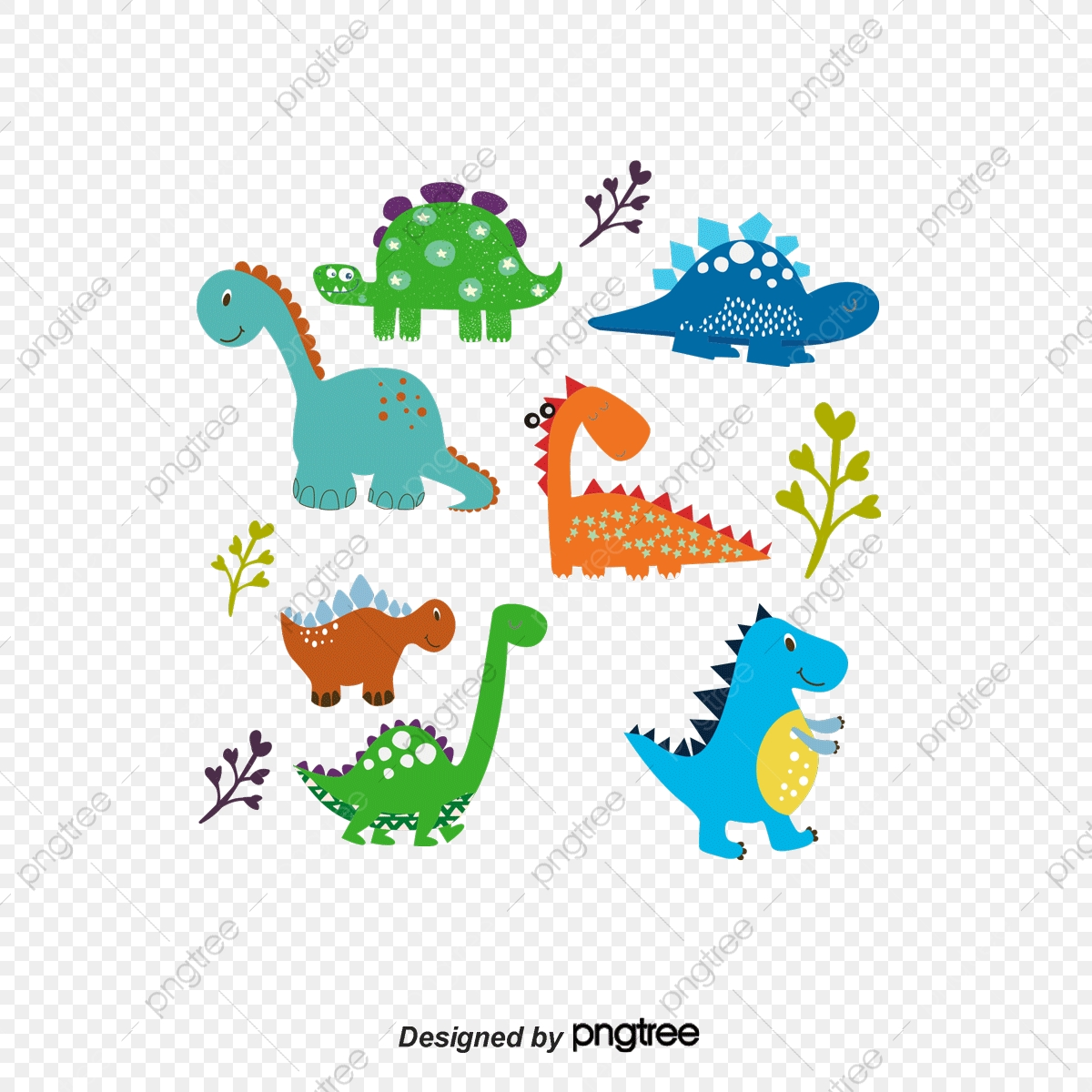 Dinosaurs Vector Dinosaur Cartoon Color Painted Png Transparent Clipart Image And Psd File For Free Download