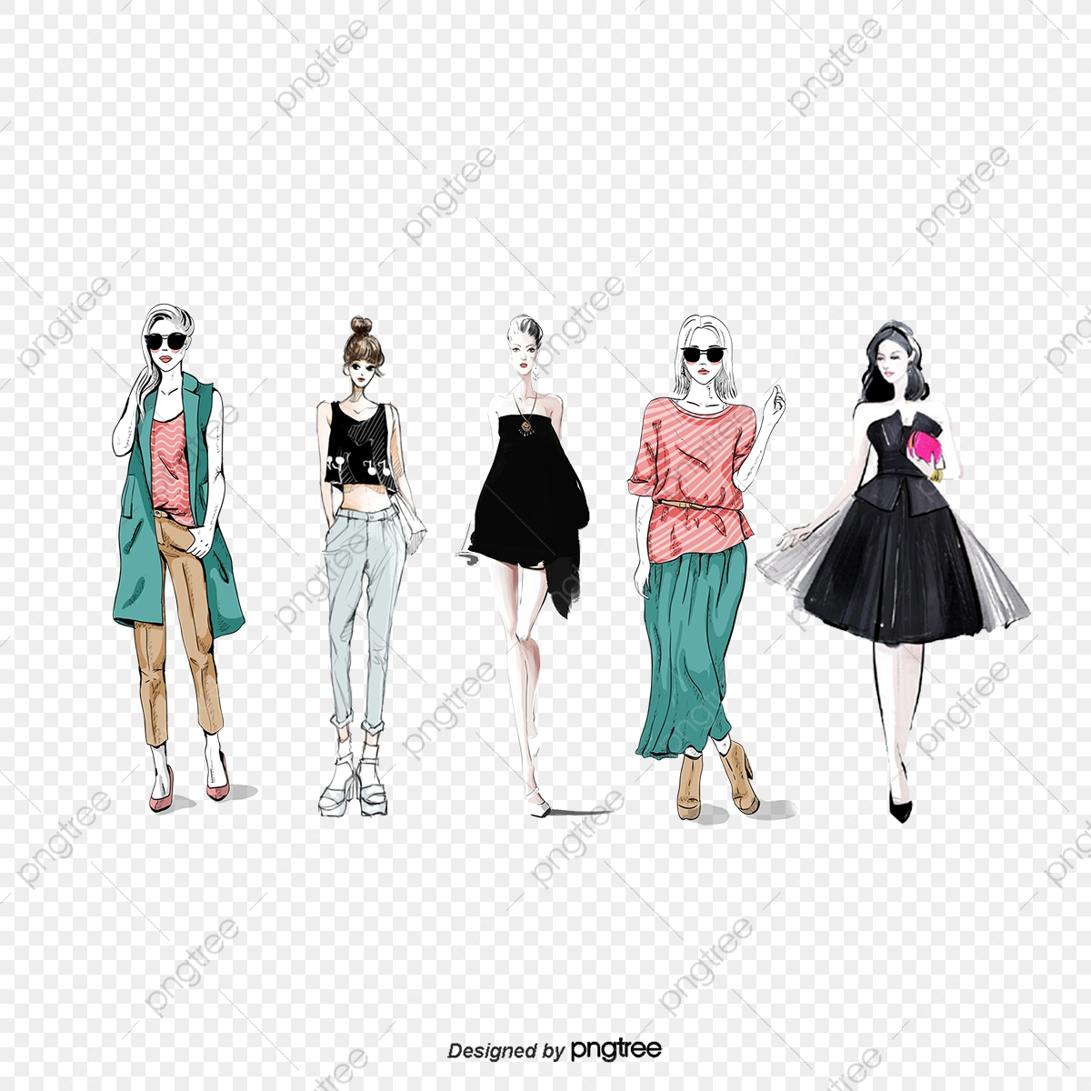 Fashion Design Fashion Vector Vector Clothing Png Transparent Clipart Image And Psd File For Free Download