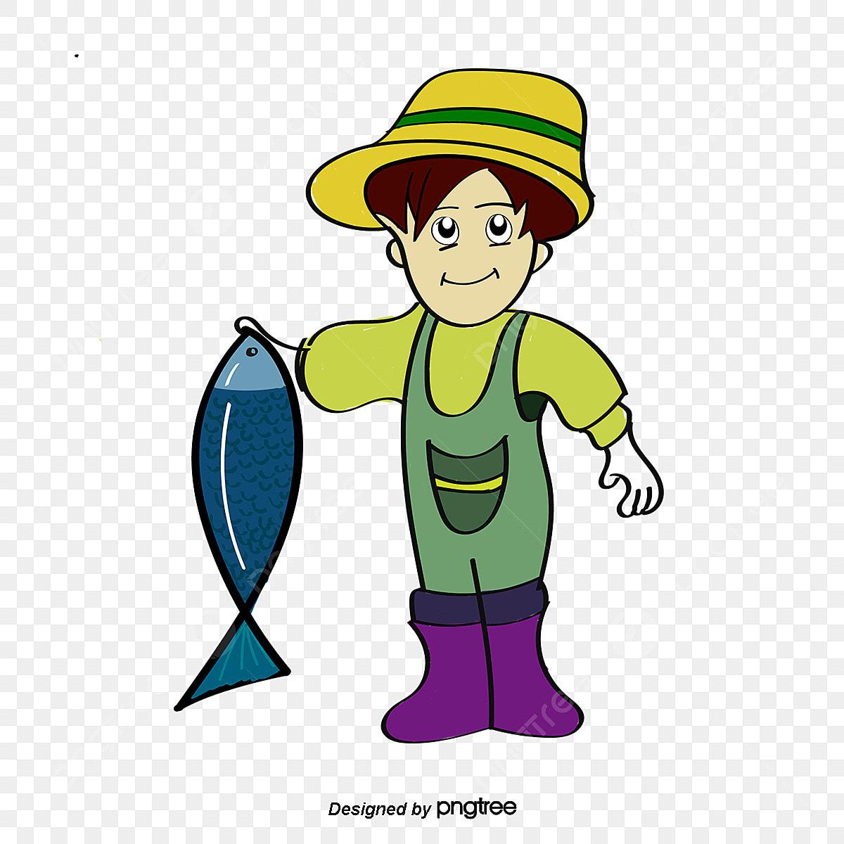 O Pescador E Peixe O Peixe A Pesca Peixes Dos Desenhos Animados