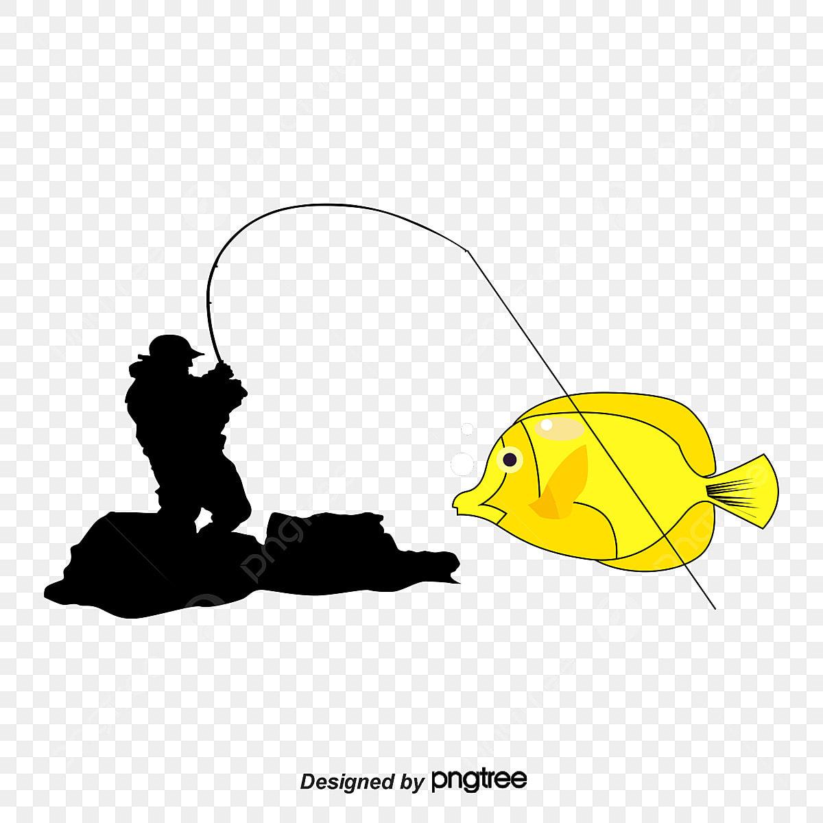 Silhueta Do Pescador Tesouras De Pesca Silhueta Do Pescador O