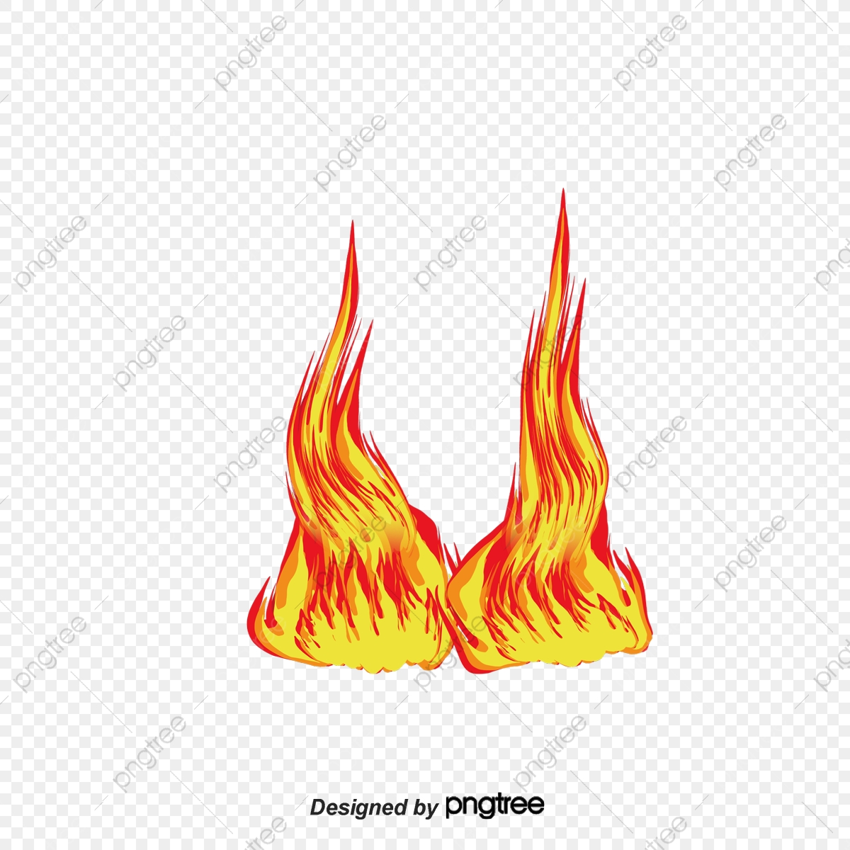 Les Flammes De Dessins Animés Flamme Dessin Jaune Png Et