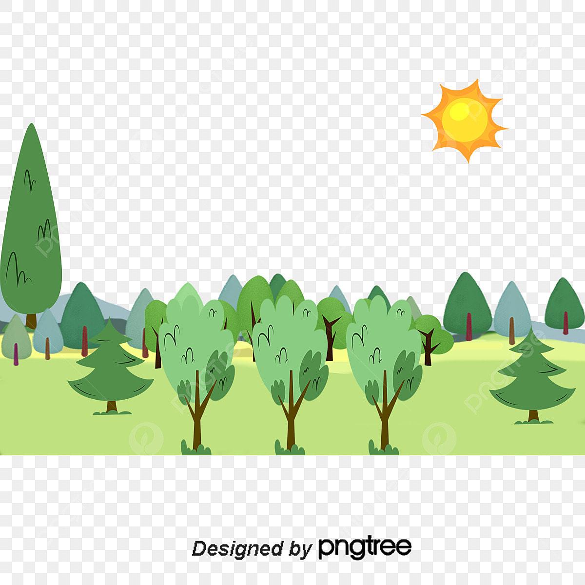 漫画イラスト森林ベクトル素材 森 イラスト 漫画画像素材の無料