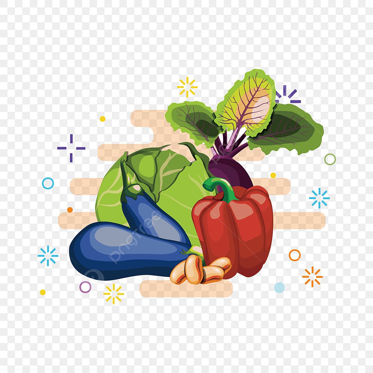 Sayur Sayuran Buah Keranjang Gambar Kreatif Troli Kale