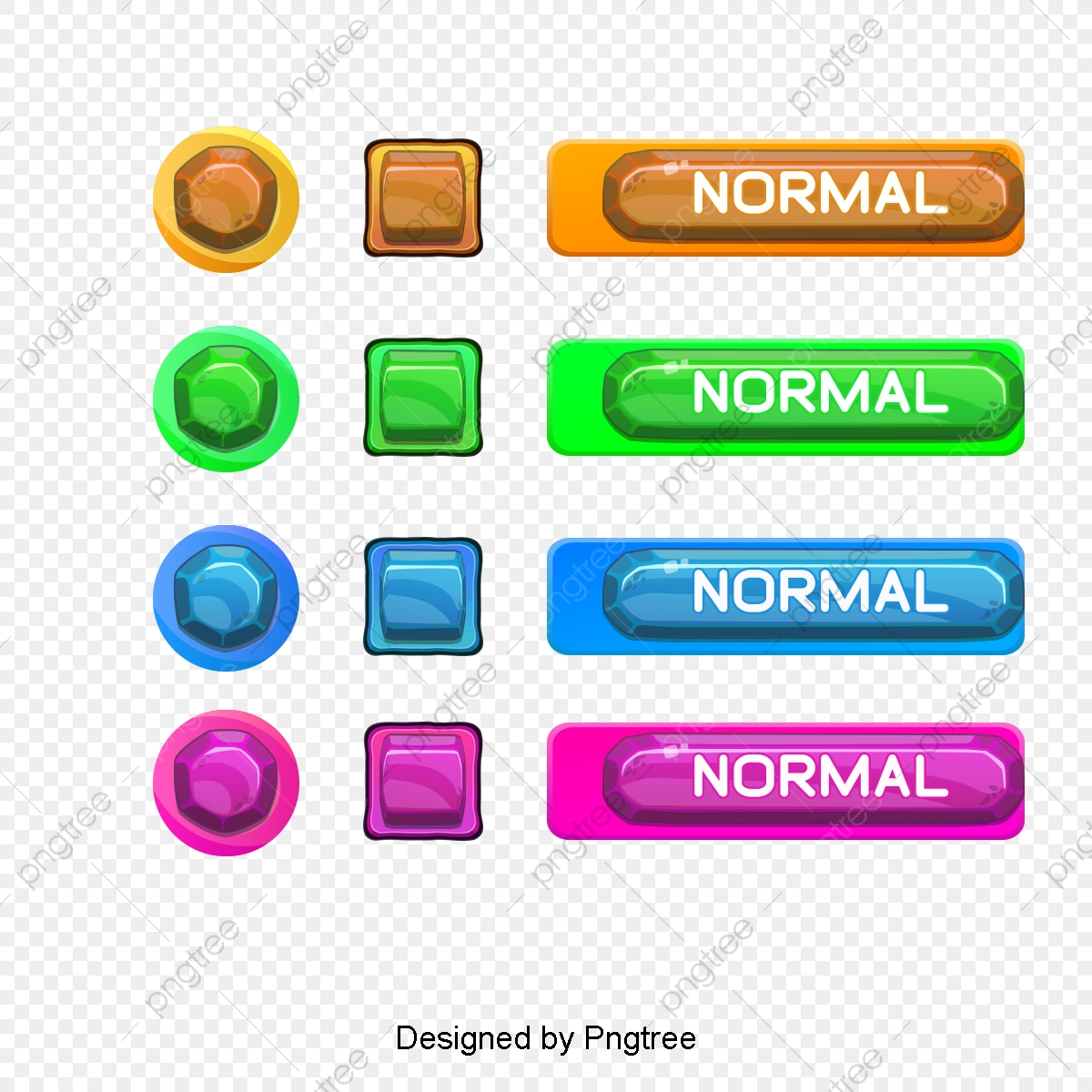 Game Buttons, 3d, Three Dimensional, Play PNG Transparent Image and