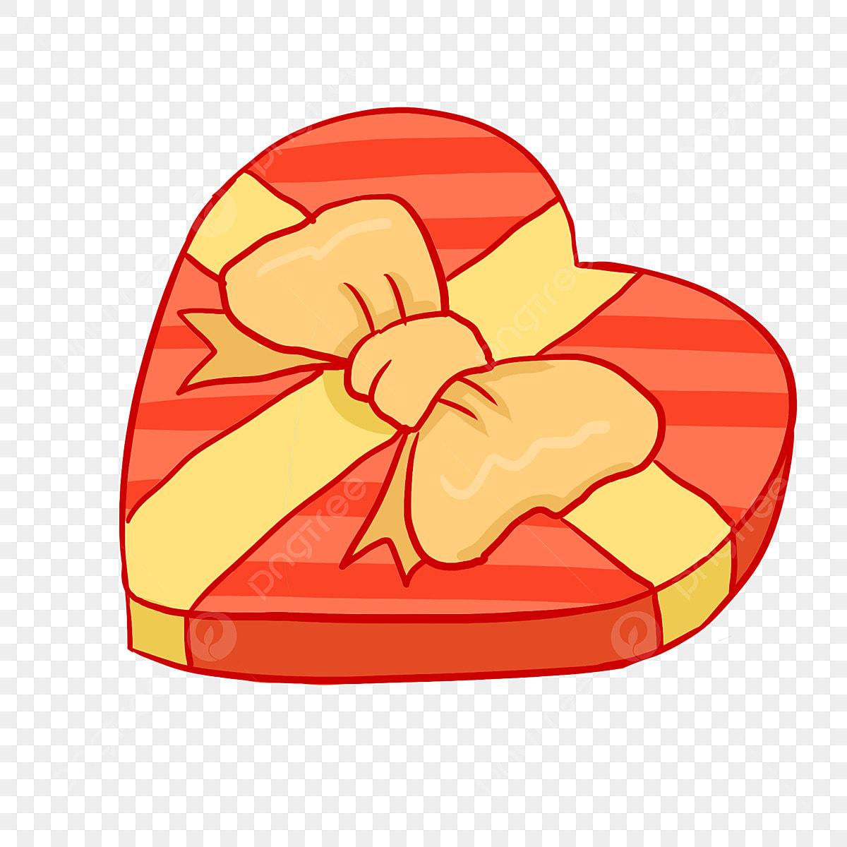 無料ダウンロードのためのプレゼント箱に飛んだハートの画像 プレゼント