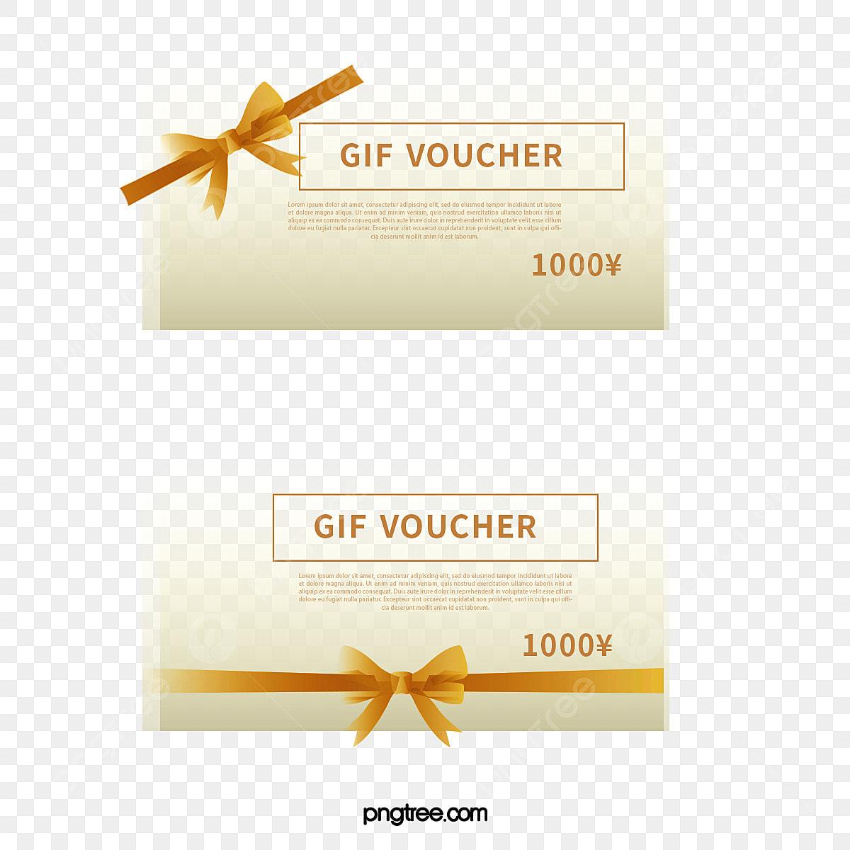 الذهب القوس الديكور قسائم هدايا قسائم قسيمة الذهب Png وملف Psd للتحميل مجانا