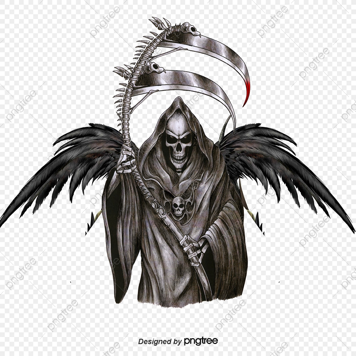 6f1e5fe90c74d Grim Reaper, Hand Painted Cartoon, Mythology, Game Anime PNG ...