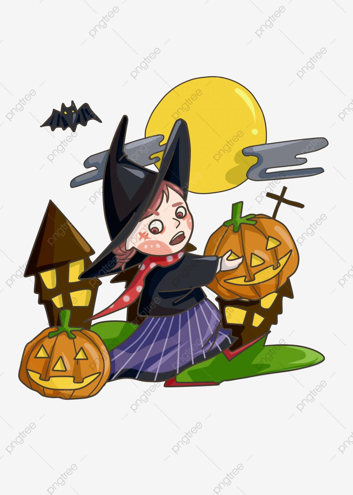 Halloween Cartoon Witch, Halloween Clipart, Cartoon ...