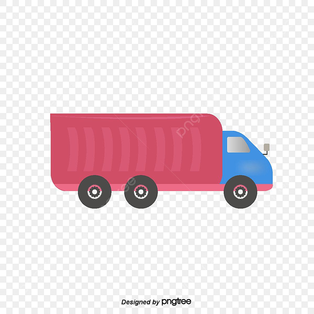 Dessins Animés Dessinés à La Main La Camionnette De Vecteur