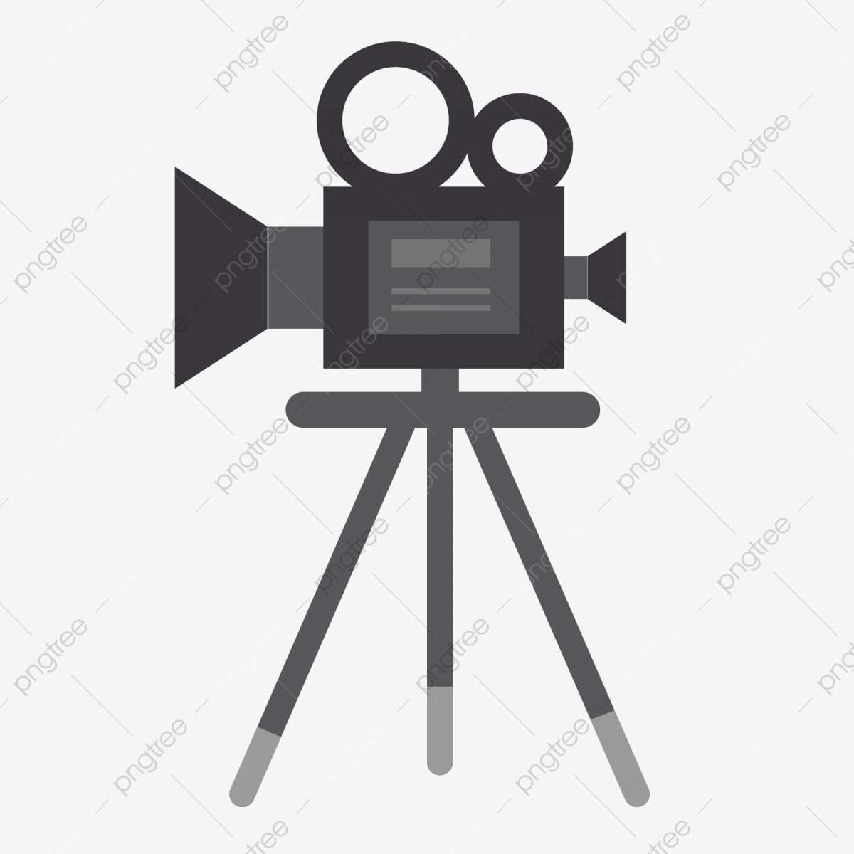 Hand Drawn Sketch Movie Camera Creative Assignment, Movie Clipart