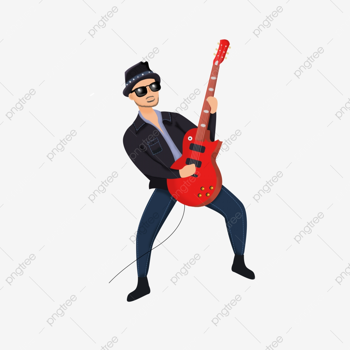 Desenho De Guitarra Personagens De Desenhos Animados Menino Dos