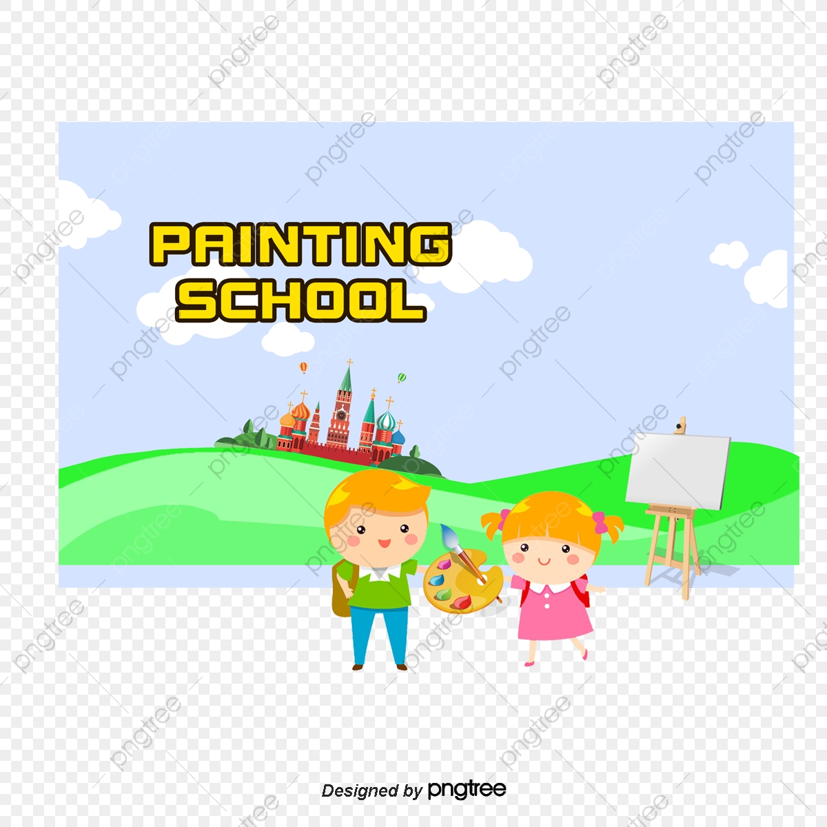 Hand Painted Childrens Illustrator, Boy, Girl, Brush PNG and