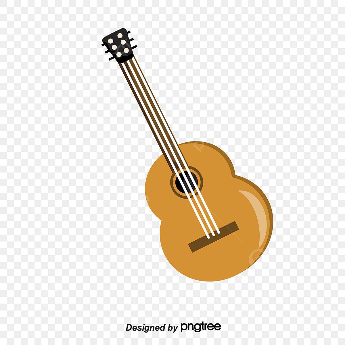 Pintado A Mano De Instrumentos Musicales Occidentales Arpa Guitarra