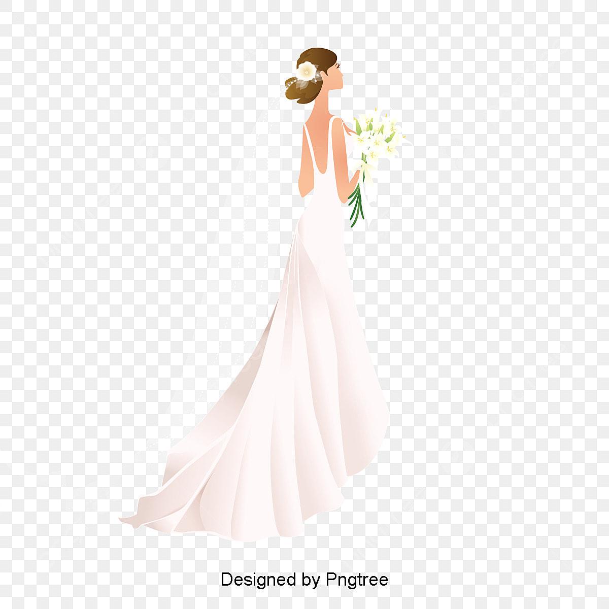 dab0d4661452e5d счастье невеста белый свадебное платье счастье невеста Изображение и  клипарт PNG