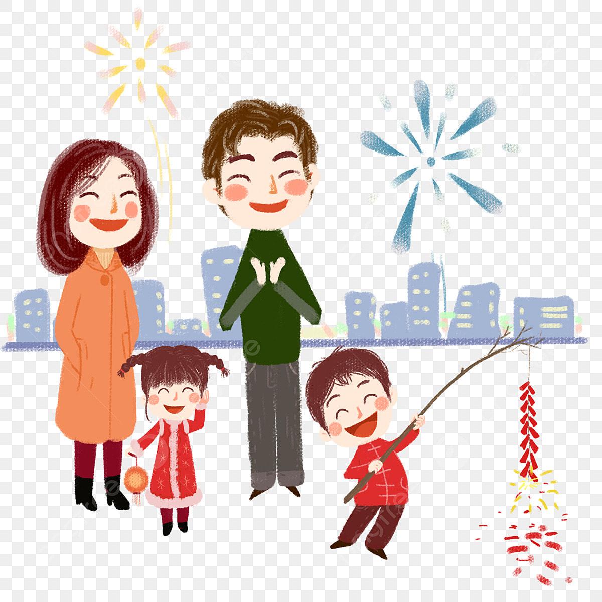 Familia Feliz Familia Pintado A Mano De La Familia Feliz Imagen Png