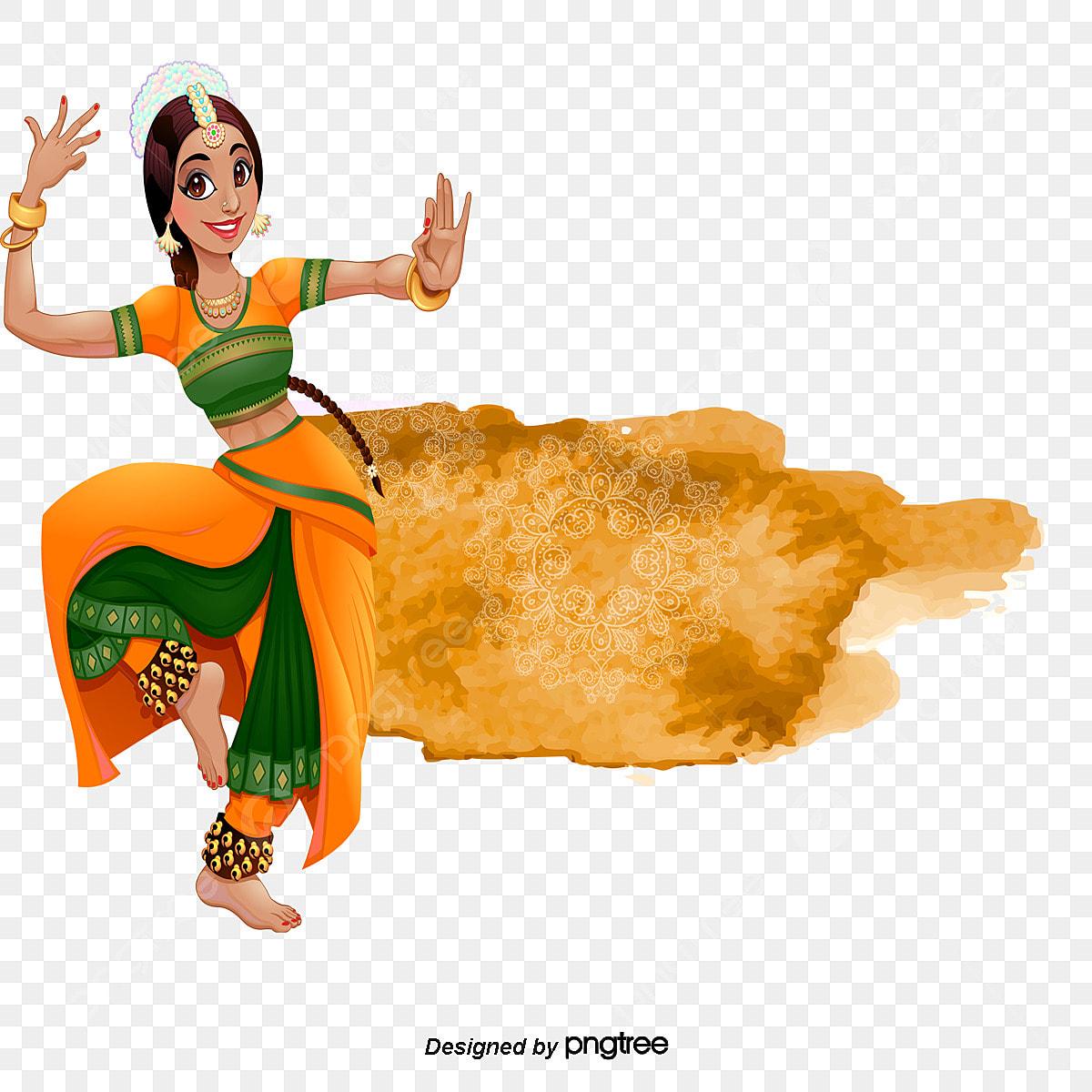 Indian Dancing Clip Art Kids   Dancers of India by Dancing Crayon Designs