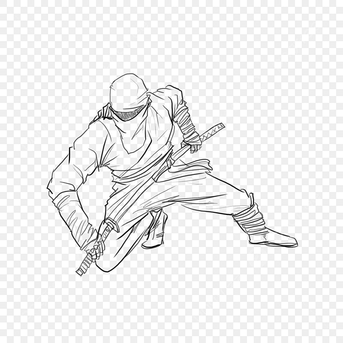 Jepun Ninja Pengawal Pahlawan Gambar Ninja Jepang Pahlawan
