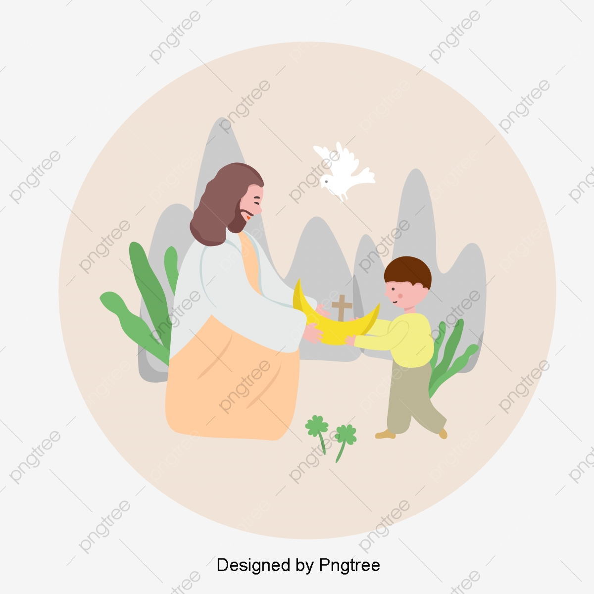 Ovos De Pascoa De Jesus E Desenho Pintado A Mao Jesus Ovos De